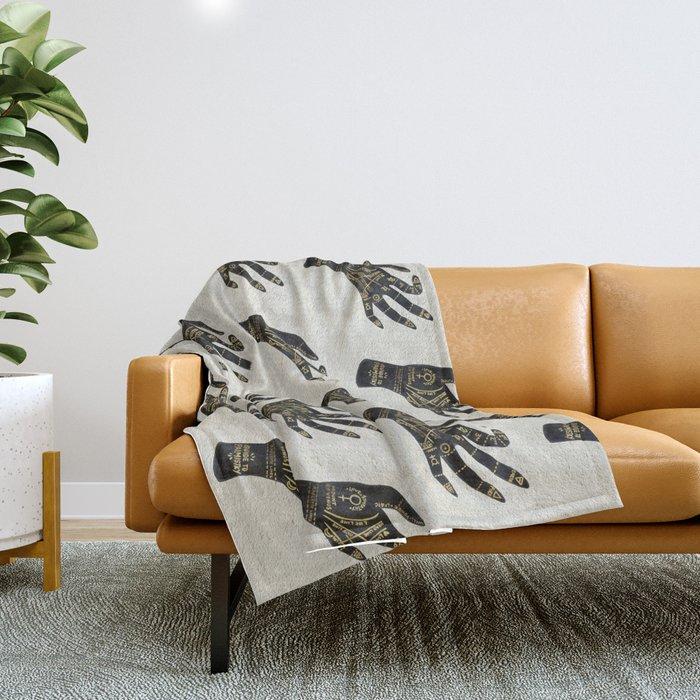 Palmistry Throw Blanket