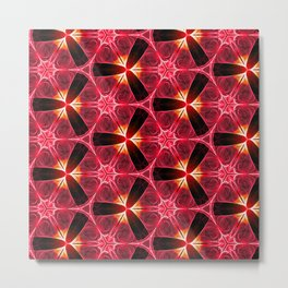 Chainlink Pattern (red) Metal Print