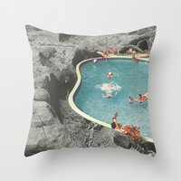 eddie vedder Throw Pillows featuring is this the place that they call paradise? by Jesse Treece