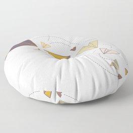El Vuelo de los Avioncitos de Papel Floor Pillow