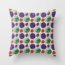 Round leaves Throw Pillow