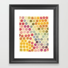 Stamp Dots Framed Art Print