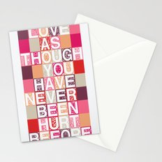 Love As Though Stationery Cards
