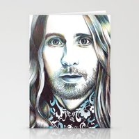 jared leto Stationery Cards featuring Jared Leto by ShayMacMorran