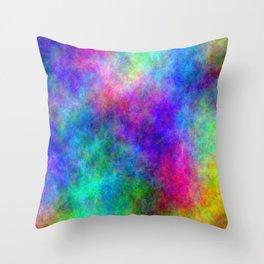 Colorful Magick Throw Pillow
