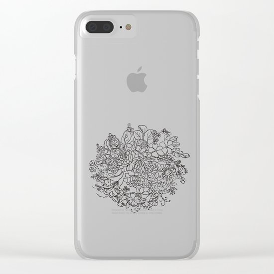 decorative bouquet of flowers and leaves Clear iPhone Case