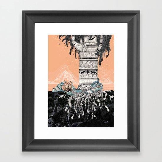 Fox Tree Framed Art Print