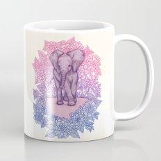 Cute Baby Elephant in pink, purple & blue Mug