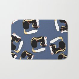 African Wildlife Poecilogale (African Weasel) Bath Mat