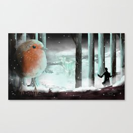 Strange lights in the woods Canvas Print