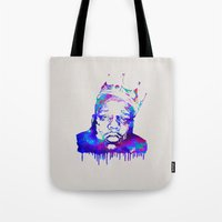 notorious big Tote Bags featuring Notorious by Fimbis