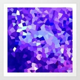 Modern Abstract Polygonal Purple Mosaic Art Print