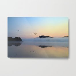 Enlightenment: Sunrise on Lake George Metal Print