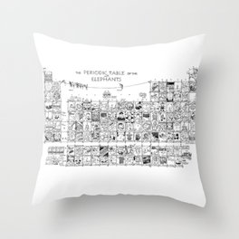 Periodic Table of the Elephants Throw Pillow