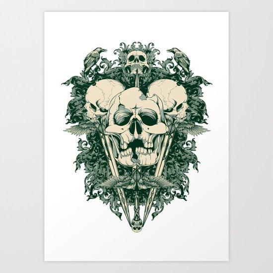 Blade tips Art Print