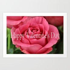 Valentine's rose Art Print