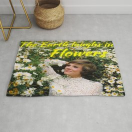 The Earth laughs in Flowers Rug