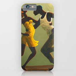 African American Masterpiece 'Hot Horn' by Orville Bulman iPhone Case