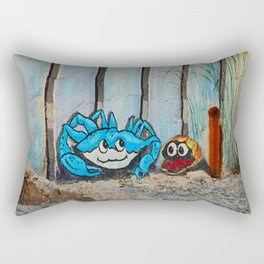The Crab and the Clam Fort Myers Breakwall Rectangular Pillow