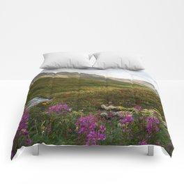 Fireweed & Fall in Alaska  Comforters