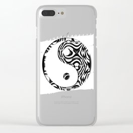 Black and White holes Clear iPhone Case