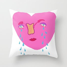 happy v-day Throw Pillow