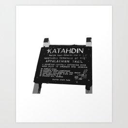 To Katahdin Art Print