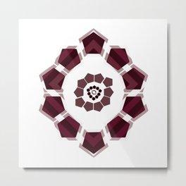 GeoFlower - Plumb on White Metal Print
