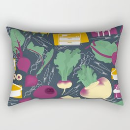 Root Vegetables Rectangular Pillow