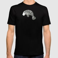 Manatee Mens Fitted Tee Black MEDIUM