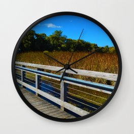 Point Pelee National Park Boardwalk in Leamington ON Canada Wall Clock