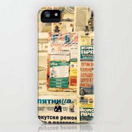 Russian newspapers iPhone Case