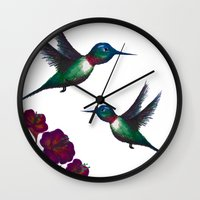 ruby Wall Clocks featuring Ruby by UrCreative - Ashley Ferrell Robinson
