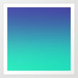 LUSH COVE - Minimal Plain Soft Mood Color Blend Prints Art Print