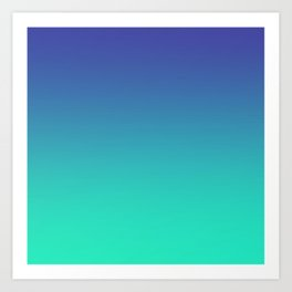 LUSH COVE - Minimal Plain Soft Mood Color Blend Prints Art Print