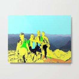 Mountain Climbers Metal Print