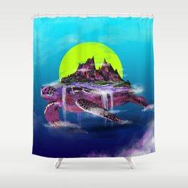 Turtle Paradise Shower Curtain