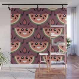Watermelon pattern Wall Mural