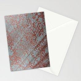 Orange Italian Hair Water Marbling Stationery Cards
