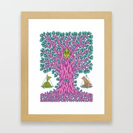 The Tree of Balance Framed Art Print
