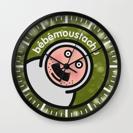 Le bébé moustachu - 3 Wall Clock