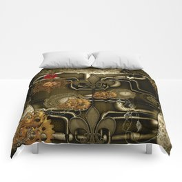 Wonderful noble steampunk design Comforters