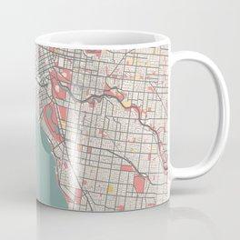 Melbourne - Australia Chalk City Map Coffee Mug