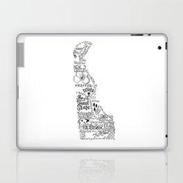 Delaware - Hand Lettered Map Laptop & iPad Skin