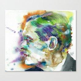 t. s. eliot - WATERCOLOR PORTRAIT Canvas Print