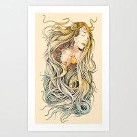 sleeping beauty Art Prints featuring Sleeping Beauty by Azrhon