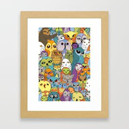 A Colorful Parliament in Session Framed Art Print