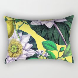 Vintage Lotus + Lemons Rectangular Pillow
