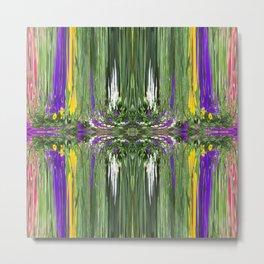 457 - Abstract Garden Design Metal Print