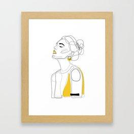 Yellow Lip Framed Art Print